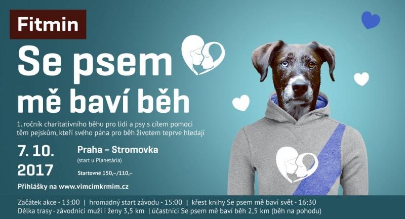"""f1de16e7f91 Charitativní běh """"Fitmin Se psem mě baví běh"""" ve Stromovce ..."""